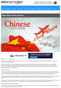 Medical Tourism Magazine Chinese Medical Tourism   A New Wave 160408