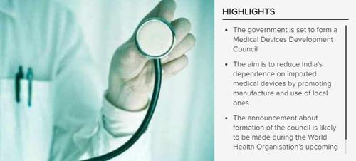 Government to set up panel boost production of medical devices in India (c) The Times Of India