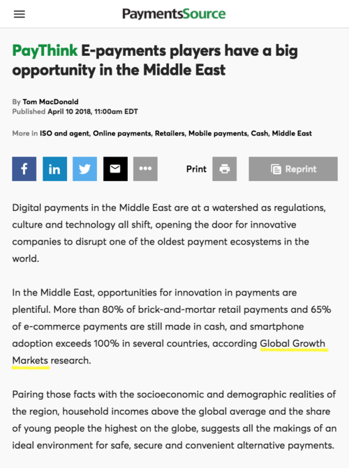 Payments Source E payments players have a big opportunity in the Middle East 180410