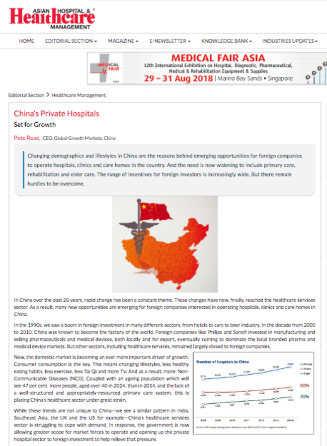 Asian Hospital and Healthcare Management Chinas private hospitals set for growth 160509