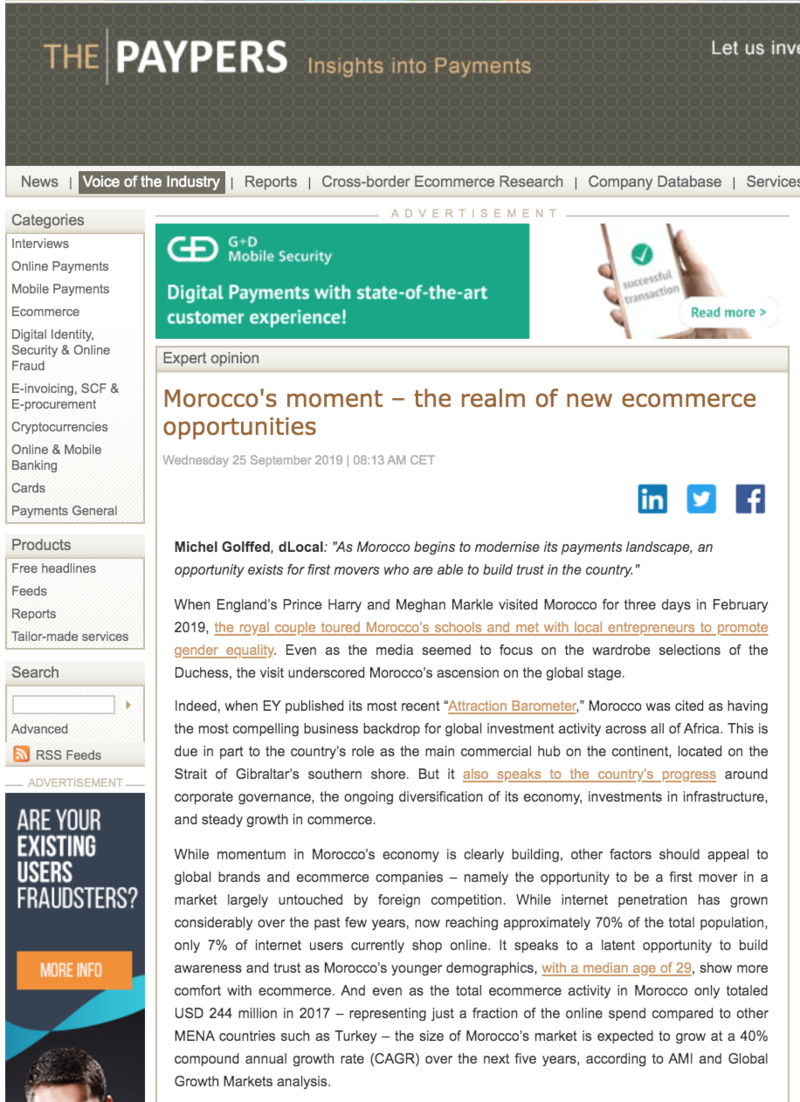 The Paypers Morocco's moment   the realm of new ecommerce opportunities 190925